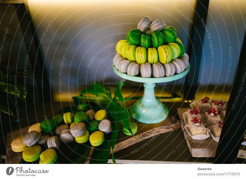 Party Snacks Lebensmittel Kuchen Dessert Süßwaren Makronen Macaron Lifestyle elegant Stil Design Freude harmonisch Freizeit & Hobby Abenteuer Freiheit