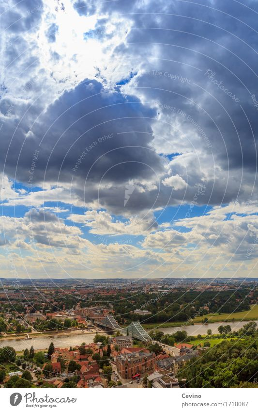 Dresden VIII elegant Stil Ferien & Urlaub & Reisen Tourismus Ausflug Abenteuer Sommer Sommerurlaub Landschaft Himmel Wolken Horizont Fluss Elbe Deutschland