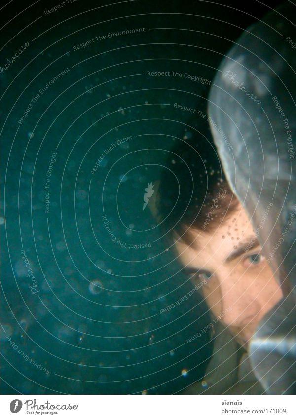 Nethuns Mensch Mann Jugendliche blau Wasser Meer Erwachsene Kopf träumen See elegant Schwimmen & Baden maskulin Stoff 18-30 Jahre beobachten