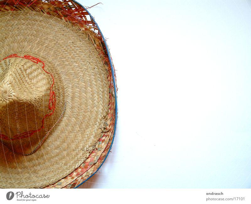 sombrero Stroh Muster vergessen Dinge Hut Gully Maske Mexiko Karneval liegen aufsetzen Head Mode