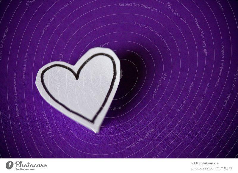 Herz violett Sympathie Zusammensein Liebe Treue Romantik Glück Religion & Glaube gemalt Zeichnung Papier Hochzeit Ehe Paar Partner herzlich Farbfoto