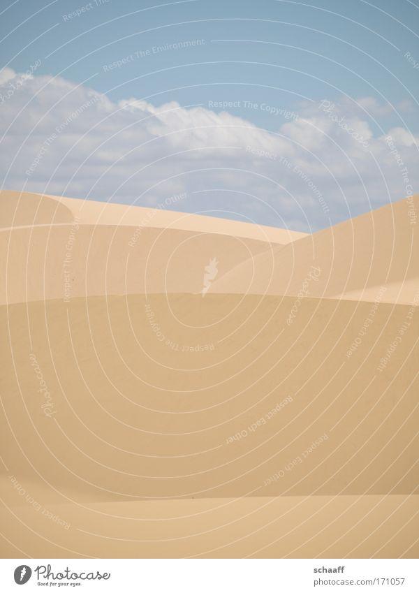 Wüstenlinien Himmel Sonne Ferien & Urlaub & Reisen Sommer Strand Wolken Ferne Erholung Landschaft Glück Sand Wärme gold Ausflug ästhetisch Klima