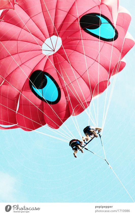 smile and fly Freizeit & Hobby parasailing Drachenfliegen Ferien & Urlaub & Reisen Tourismus Abenteuer Ferne Freiheit Sommer Sommerurlaub Strand Meer Wellen
