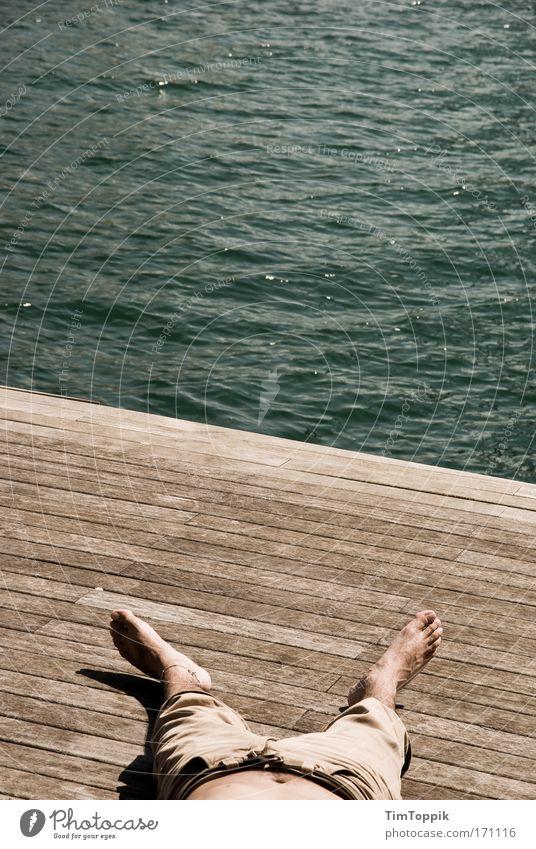 Kopf aus, Beine lang Ferien & Urlaub & Reisen Sommer Sonne Meer Strand Erholung Ferne Freiheit Küste Fuß Tourismus Ausflug schlafen Wellness Sommerurlaub Sonnenbad