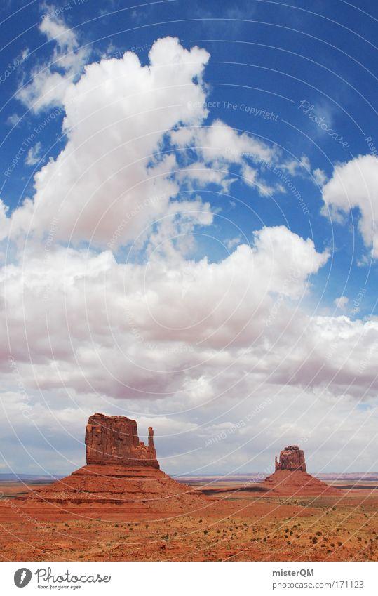 monumental. Sommer Ferien & Urlaub & Reisen Wolken Ferne Freiheit Berge u. Gebirge Landschaft Stein Erde Ausflug Felsen Erfolg Tourismus Zukunft USA Wüste