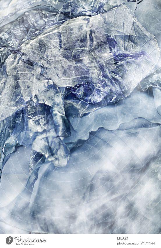 Schuppen im Nebelmeer blau grau Stoff Kleid Rock silber Morgendämmerung
