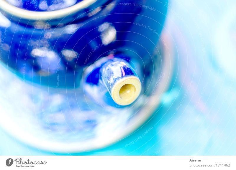 blauer Dunst Getränk Heißgetränk Tee Geschirr Teekanne Kannen Wohlgefühl Sinnesorgane Duft Keramik Gesundheit heiß hell türkis Zufriedenheit Warmherzigkeit