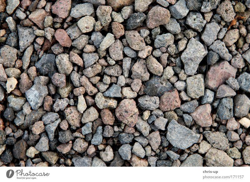 Steine und Schutt Textur Natur weiß rot schwarz Farbe Umwelt grau Sand Küste Erde Ordnung Platz Design Perspektive Strukturen & Formen