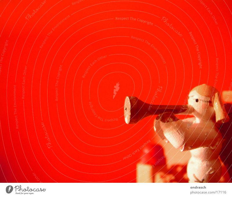 Holzbläser Mensch Weihnachten & Advent Himmel Winter Schnee Engel blasen Hölle singen Trompete Chor Weihnachtsdekoration Weihnachtskrippe