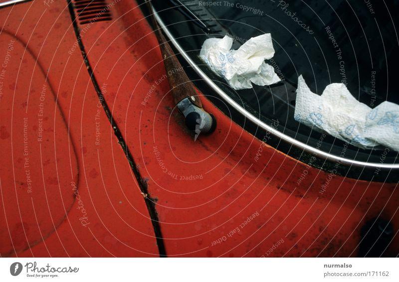 Käferschnupfen rot Ferien & Urlaub & Reisen Freude Straße Freiheit Bewegung Stil PKW Autofenster Freizeit & Hobby Platz Verkehr stehen Coolness fahren Reinigen