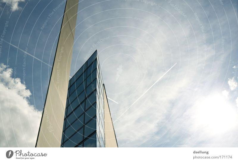 Odyssee blau kalt Fenster Wand Architektur grau Gebäude Mauer Deutschland Glas Fassade Beton modern ästhetisch Europa