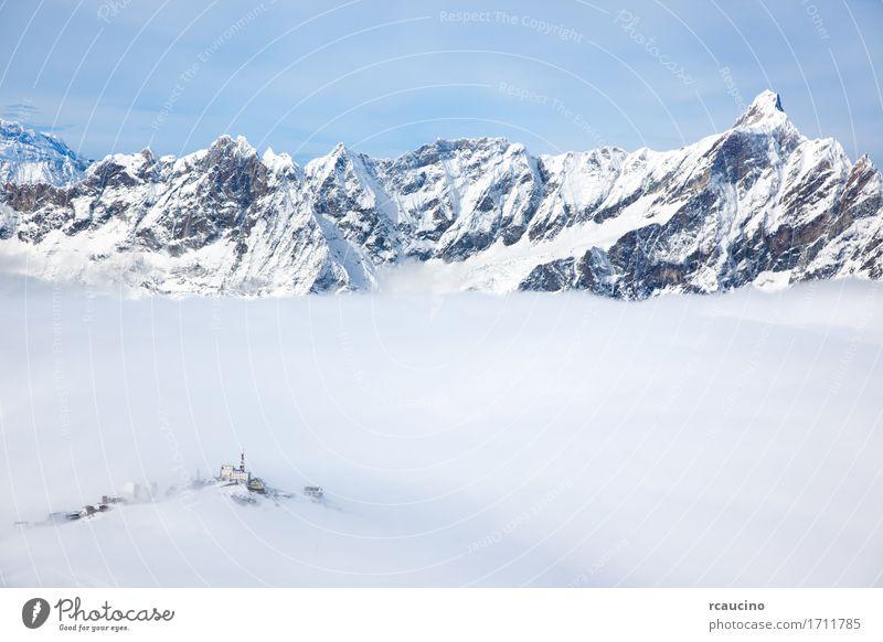 Himmel Natur Ferien & Urlaub & Reisen weiß Landschaft Wolken Winter Berge u. Gebirge Sport Schnee Gebäude Tourismus Ausflug Europa Aussicht Italien
