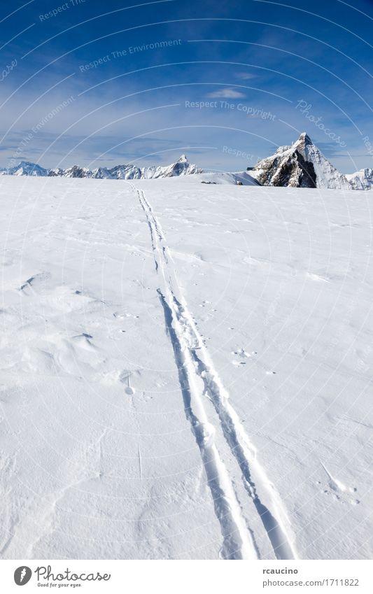 Skibahn auf frischem Schnee Matterhorn-Gletscher die Schweiz schön Ferien & Urlaub & Reisen Tourismus Abenteuer Expedition Winter Berge u. Gebirge Sport
