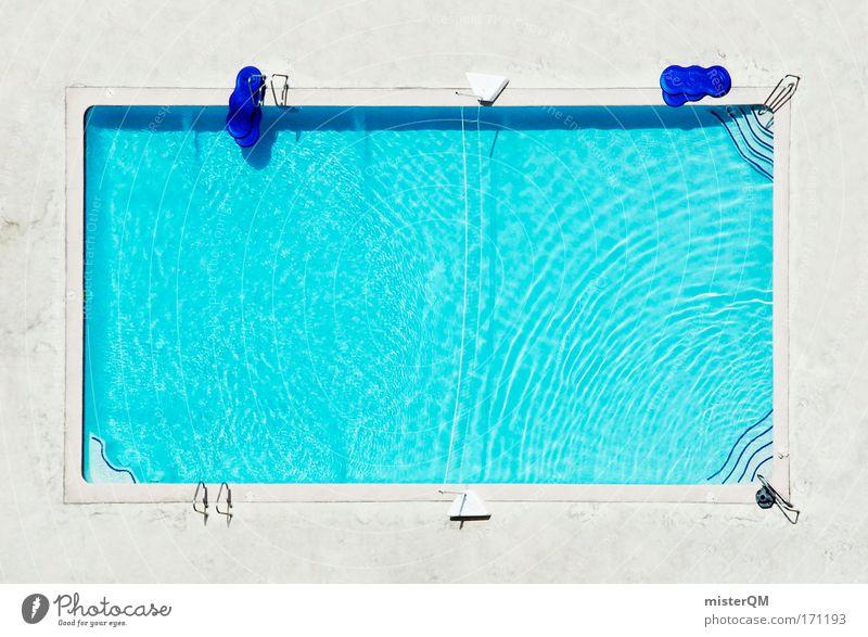 """""""Minimeer"""" oder """"Dass das 3 Meter Brett so gut federt..."""" Ferien & Urlaub & Reisen Sonne Sommer Erholung Architektur Wellen Freizeit & Hobby frei leer Perspektive Luftaufnahme einzigartig Wellness Schwimmbad Vogelperspektive Hotel"""