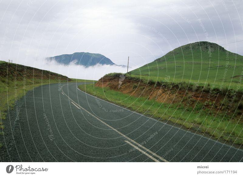 Fog Farbfoto Außenaufnahme Menschenleer Tag Panorama (Aussicht) Ferien & Urlaub & Reisen Tourismus Natur Landschaft Frühling Herbst Wetter Nebel Hügel Straße