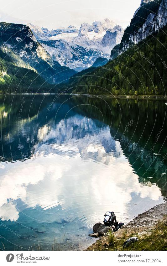 Einfach mal ins Bergpanorama eintauchen Ferien & Urlaub & Reisen Tourismus Ausflug Abenteuer Ferne Freiheit Expedition Berge u. Gebirge wandern Sport Umwelt