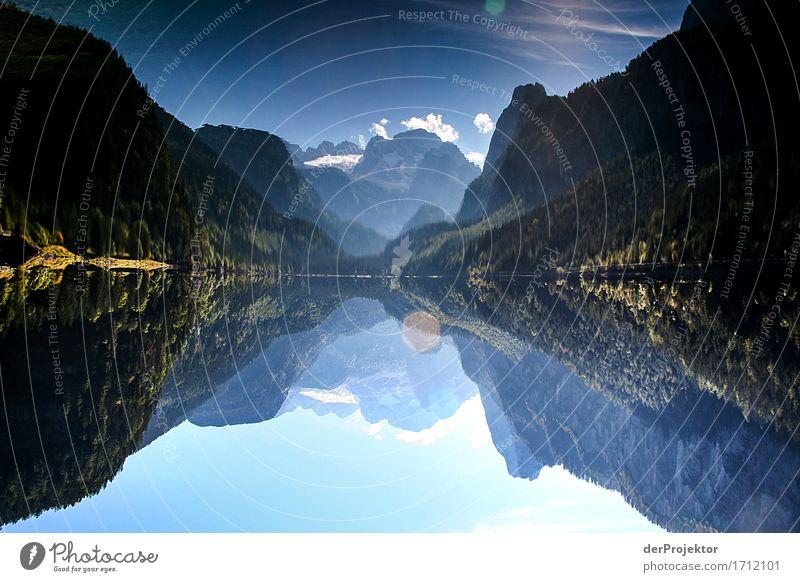 Bergseee in Spiegelung im Salzkammergut Ferien & Urlaub & Reisen Natur Pflanze Landschaft Erholung Tier Freude Ferne Berge u. Gebirge Herbst Umwelt Tourismus