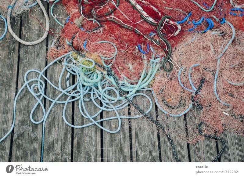 Seemannsgarn Ferien & Urlaub & Reisen alt Küste liegen Seil Netzwerk Hafen Schifffahrt Angeln durcheinander Vernetzung Mittelmeer Fischereiwirtschaft