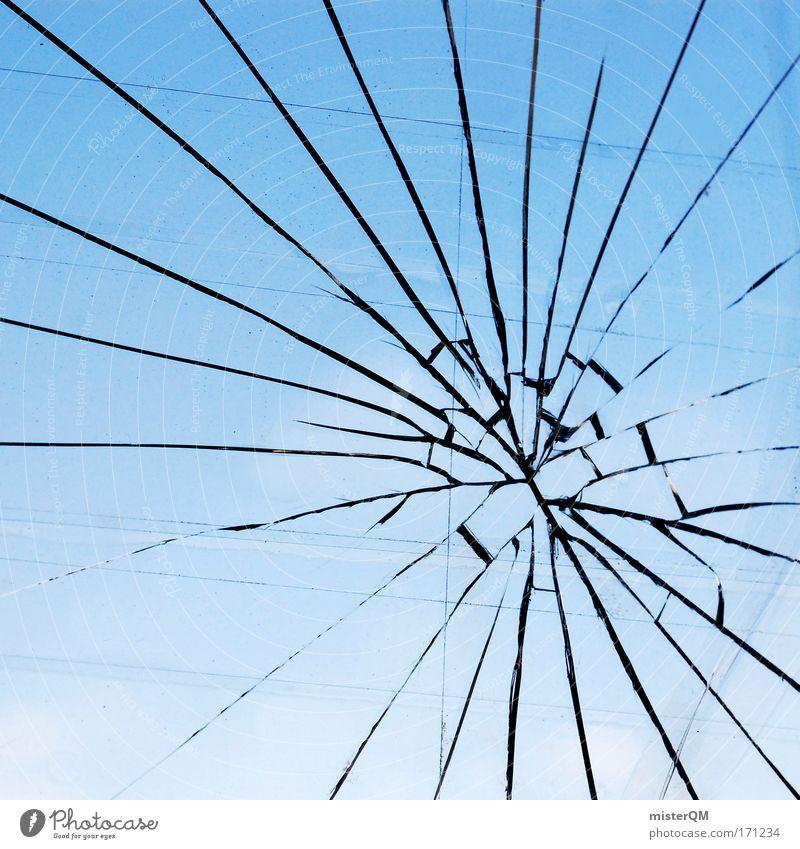 War kein schwarzer Fußballsticker dran... Versicherung Fenster Spielen Kindheit Glas kaputt Ziel Schutz gebrochen Zerstörung Fensterscheibe Unfall Treffer