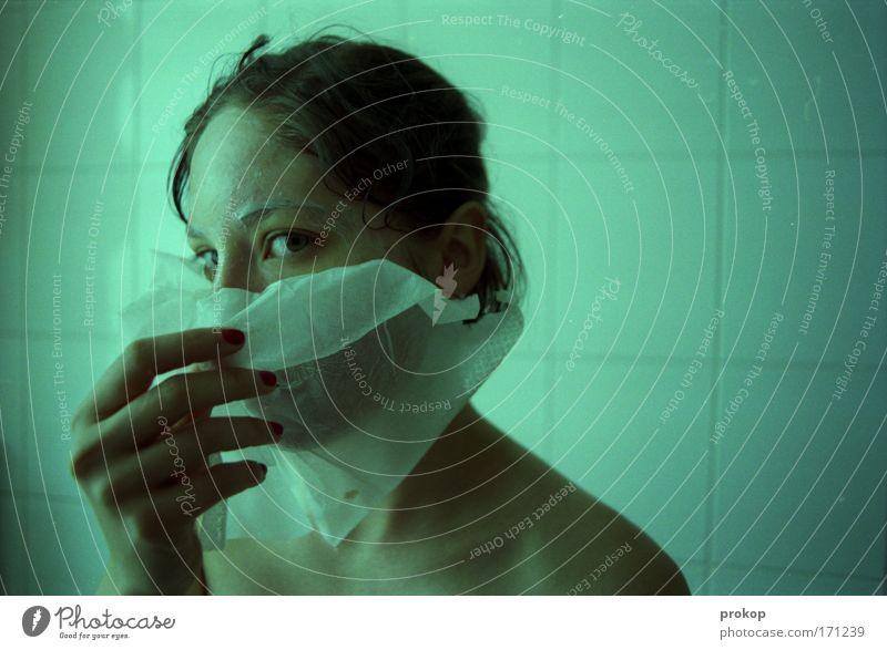 Can't touch this Mensch Frau Hand schön ruhig Gesicht Erwachsene Erholung Leben feminin Kopf Gesundheit Haut Gesundheitswesen einzigartig Wellness
