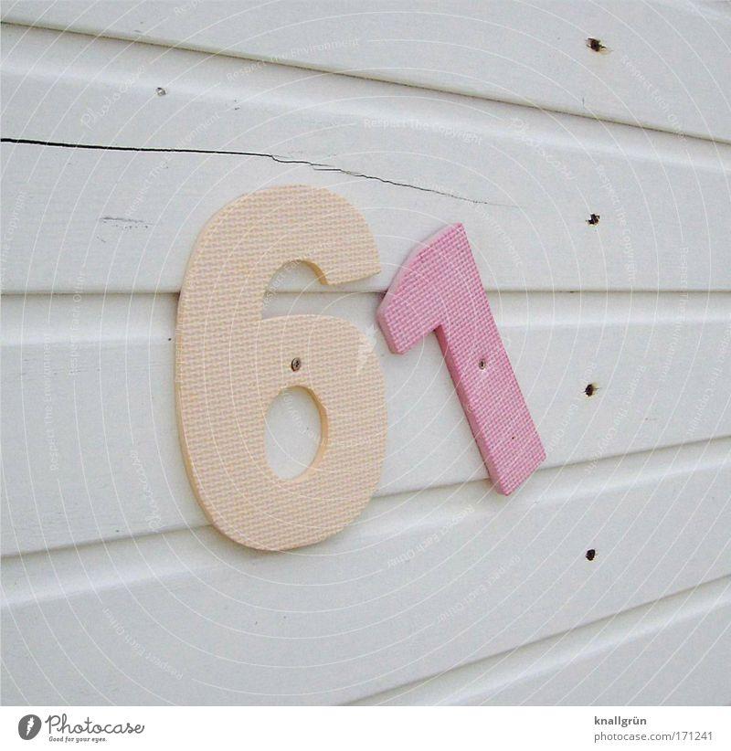 Das war der Nordseewind weiß Meer Sommer Ferien & Urlaub & Reisen Holz hell rosa Ziffern & Zahlen Riss Sommerurlaub Umkleideraum Holzleiste Hausnummer