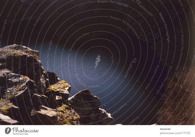 Bergsee Licht Sonnenuntergang Berge u. Gebirge Stein Wasser