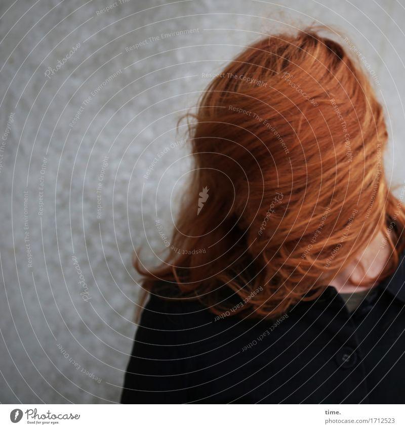 . Mensch Freude Wand Leben lustig Bewegung feminin Mauer außergewöhnlich Haare & Frisuren stehen verrückt Fröhlichkeit Geschwindigkeit Lebensfreude planen