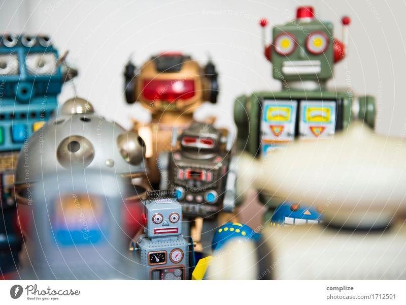 Roboter Treffen Kind Freude sprechen Innenarchitektur Stil Spielen Business Freizeit & Hobby Dekoration & Verzierung Technik & Technologie Telekommunikation