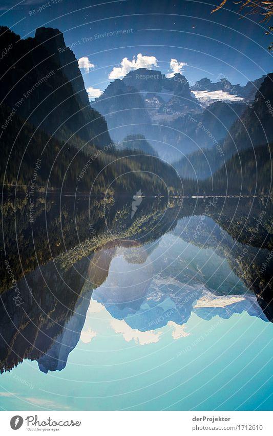 Bergsymmetrie im Salzkammergut Ferien & Urlaub & Reisen Tourismus Ausflug Abenteuer Ferne Freiheit Camping Sommerurlaub Berge u. Gebirge wandern Umwelt Natur