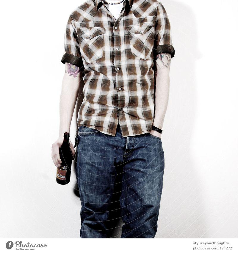 kompensierung diverser seelischer tiefschläge 01 Mensch Mann Jugendliche Erwachsene Einsamkeit Leben Wand Gefühle Traurigkeit Mauer Stimmung Glas Arme maskulin Kultur Jeanshose
