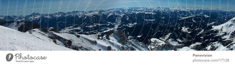 Dachstein-Tauern Panorama Winter Panorama (Aussicht) Dachsteingruppe Ereignisse Natur Berge u. Gebirge Freeride Tiefschnee groß Panorama (Bildformat)