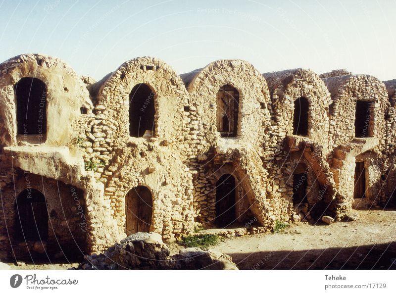 steinbauten Raum Architektur Wohnung Afrika Wüste Tunesien
