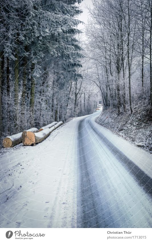 Lonesome road Natur Pflanze Baum Landschaft Erholung Winter Berge u. Gebirge Umwelt Straße Leben Gefühle Schnee Stimmung Felsen Schneefall Zufriedenheit