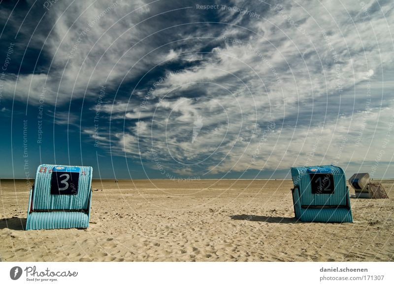 3+12 Himmel Meer Sommer Strand ruhig Wolken Ferne Erholung Sand Wind Insel Tourismus Sonnenaufgang Nordsee Klimawandel Sommerurlaub