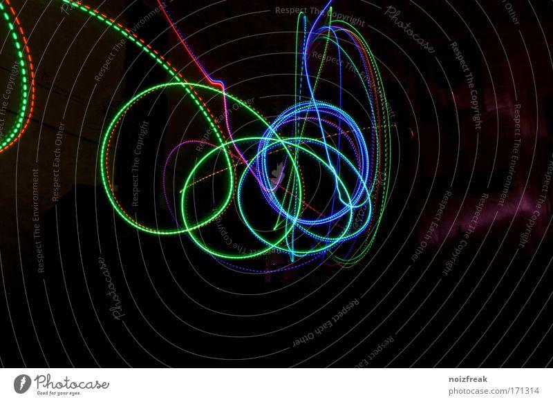 abadoned bitstream grün blau rot schwarz Farbe Linie Kunst Design Langzeitbelichtung Licht Streifen außergewöhnlich Farbraum RGB Lichtstreifen Strichellinie
