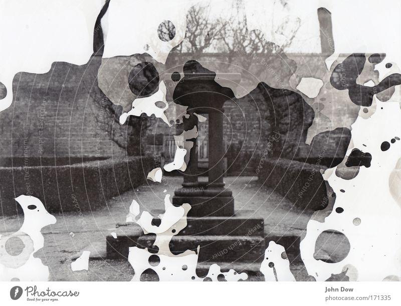 Die Chemie muss stimmen Garten Park gehen Sträucher außergewöhnlich Brunnen entdecken Flüssigkeit Fleck Surrealismus Säule Naturwissenschaft England spritzen