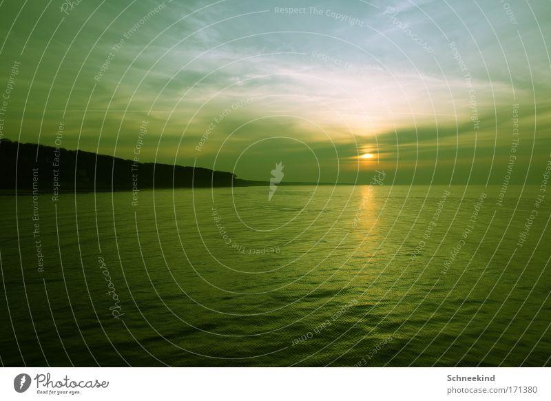 Dem Ende entgegen Wasser Himmel Baum Meer grün blau ruhig Ferne Erholung Freiheit träumen Landschaft Küste Hoffnung ästhetisch