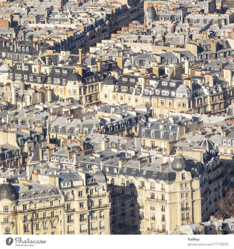 Häusermeer von Paris Frankreich Europa Hauptstadt Stadtzentrum Altstadt Menschenleer Haus Bauwerk Gebäude Architektur alt Bekanntheit historisch eng bevölkert