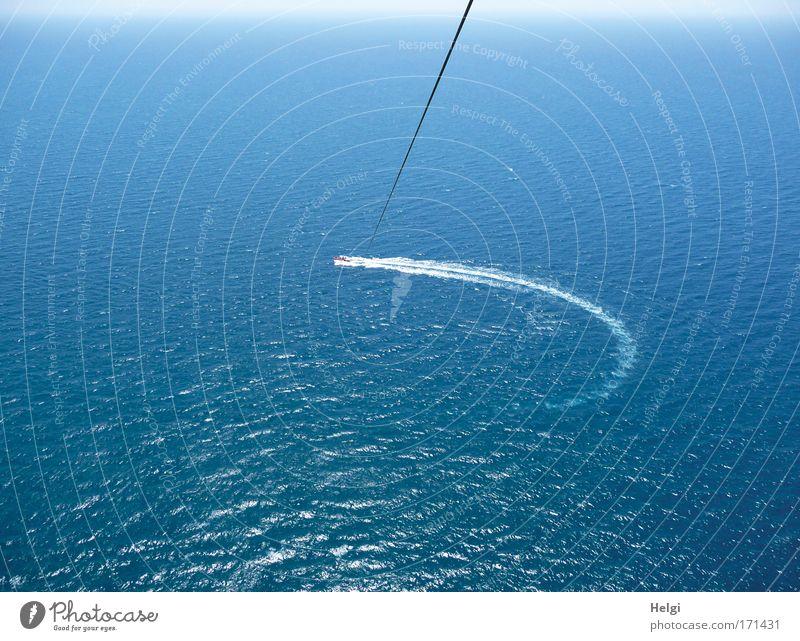die Kurve kratzen... Himmel Natur blau Wasser weiß Ferien & Urlaub & Reisen Sommer Meer Freude Ferne Freiheit Bewegung Wärme Horizont Freizeit & Hobby fliegen