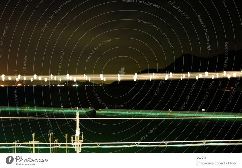 Tomo bei Nacht schön dunkel Asien fantastisch Dorf Japan Flussufer Stadtrand Fischerdorf
