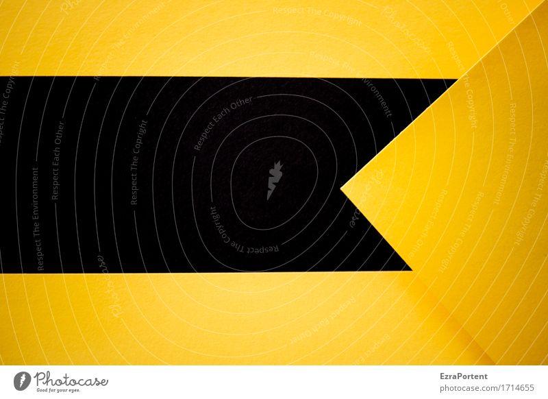 --S<G Papier Dekoration & Verzierung Zeichen Schilder & Markierungen Hinweisschild Warnschild Linie Pfeil eckig gelb schwarz Design Farbe Werbung rückwärts