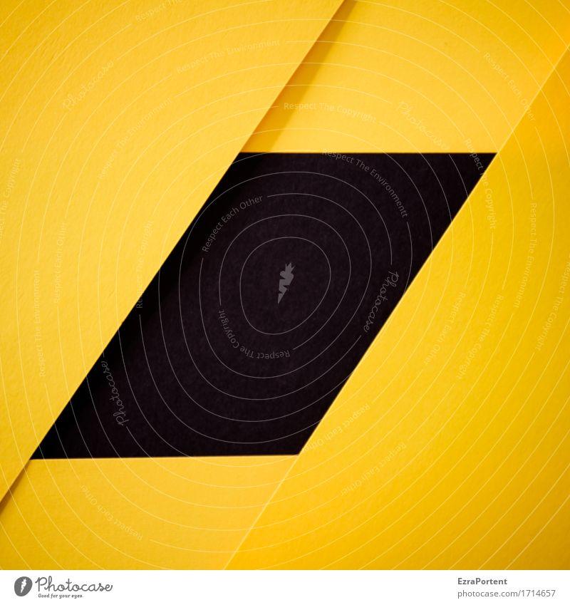 S/G Farbe schwarz gelb Hintergrundbild Linie Design Dekoration & Verzierung Schilder & Markierungen Papier Grafik u. Illustration Zeichen Streifen graphisch