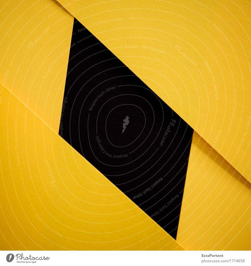 G\|s|\G Papier Zeichen Schilder & Markierungen Linie eckig gelb schwarz Design Erotik Werbung Hintergrundbild Strukturen & Formen Geometrie