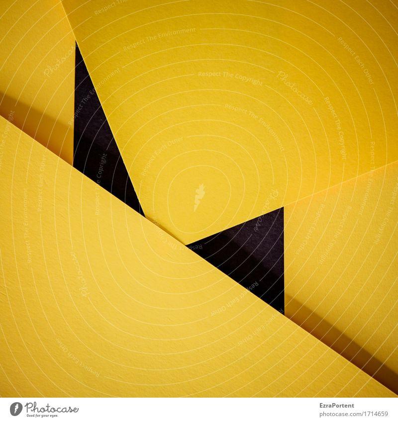 G\|s\G/s|\G Papier Dekoration & Verzierung Zeichen Schilder & Markierungen Linie Streifen eckig gelb schwarz Design Farbe Werbung Hintergrundbild Geometrie