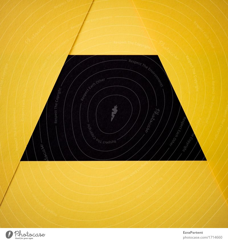 G/-s-\G Papier Zeichen Schilder & Markierungen Linie Streifen eckig gelb schwarz Design Farbe Werbung Hintergrundbild Geometrie Grafik u. Illustration