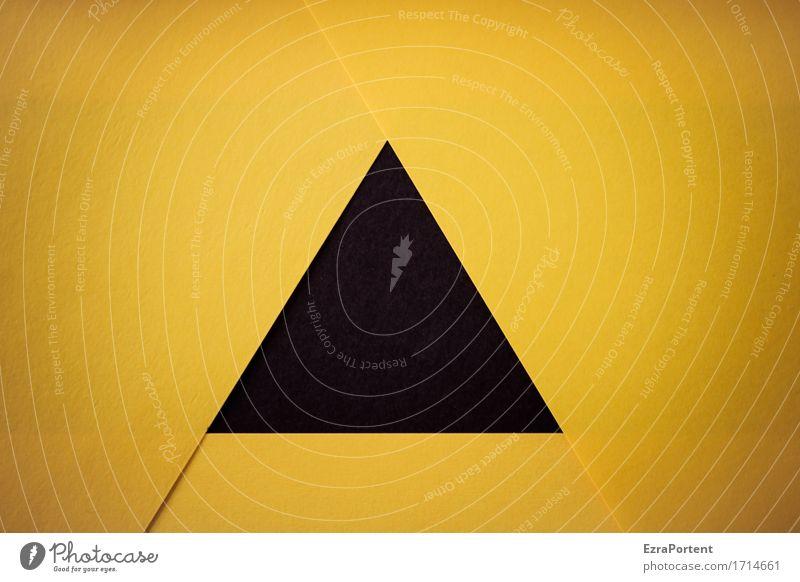 S/\G Basteln Papier Zeichen Schilder & Markierungen Hinweisschild Warnschild Linie Pfeil gelb schwarz Design Farbe Dreieck Strukturen & Formen Geometrie
