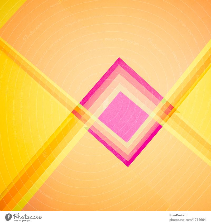 * Farbe gelb Kunst Linie orange Design Dekoration & Verzierung gold ästhetisch Schilder & Markierungen Hinweisschild Papier Grafik u. Illustration Zeichen