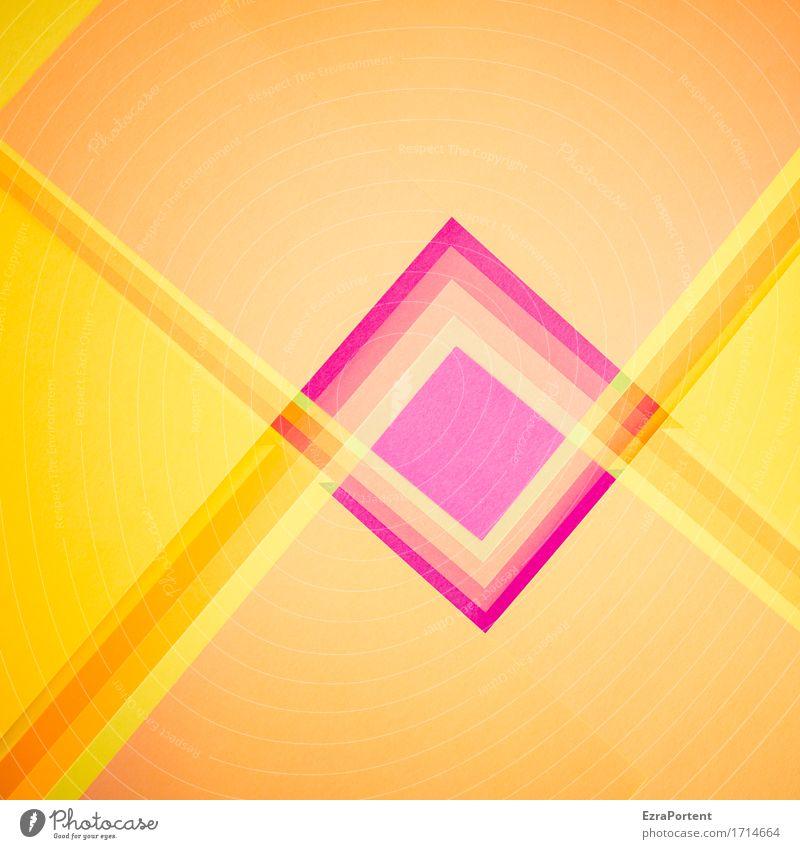 * Papier Dekoration & Verzierung Zeichen Schilder & Markierungen Hinweisschild Warnschild ästhetisch eckig mehrfarbig gelb gold violett orange Design Farbe