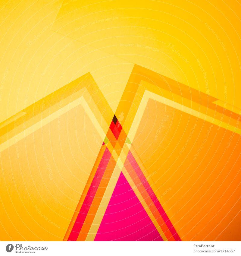 /\ /\ Papier Dekoration & Verzierung Zeichen Schilder & Markierungen Linie Streifen ästhetisch eckig mehrfarbig gelb orange rot Design Farbe Kreativität Werbung