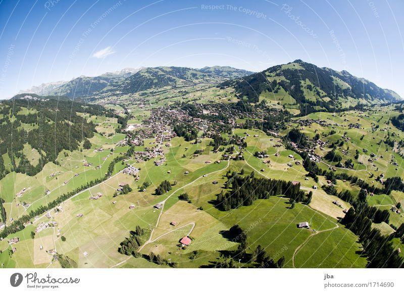 Abgleiten von der Wispile III Himmel Natur Sommer Landschaft Erholung ruhig Ferne Berge u. Gebirge Leben Sport Lifestyle Freiheit fliegen Zufriedenheit Luft